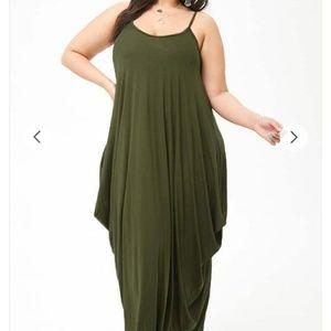 CLOSET CLEAR OUT! Plus Size Draped Maxi Dress